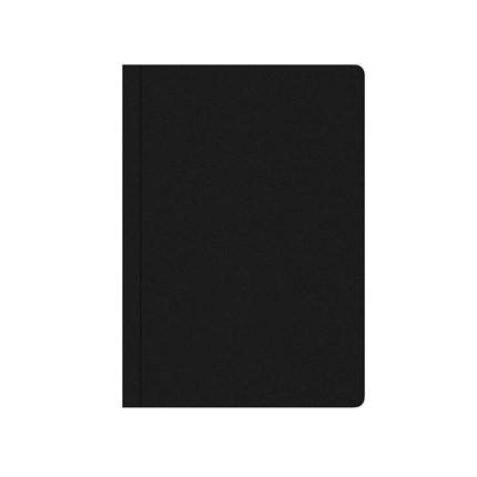 BNT Notesbog A5 - Sort voksdugbind linjeret  - 72 sider
