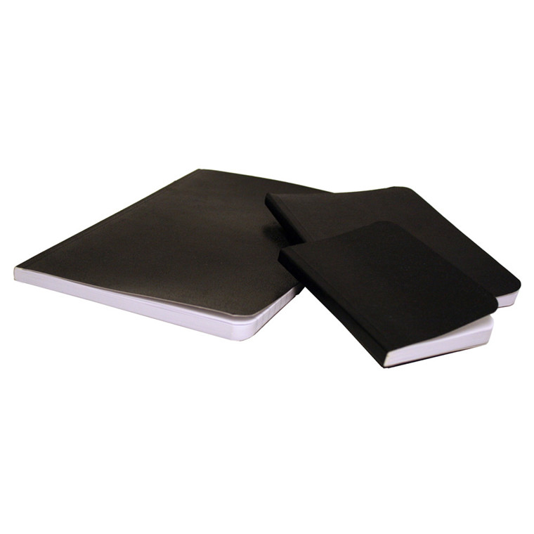 BNT Notesbøger A6 - Sort voksdugbind linjeret - 72 sider