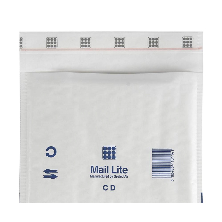 Bobleposer - Mail Lite CD 180 x 160 mm med strip seal lukning - 100 stk
