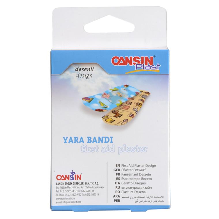 Børneplaster, Cansin Plast, med motiv, 19x72 mm