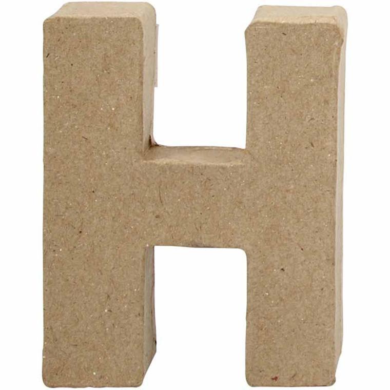 Bogstav papmaché højde 10 cm H | Bredde 7,6 cm