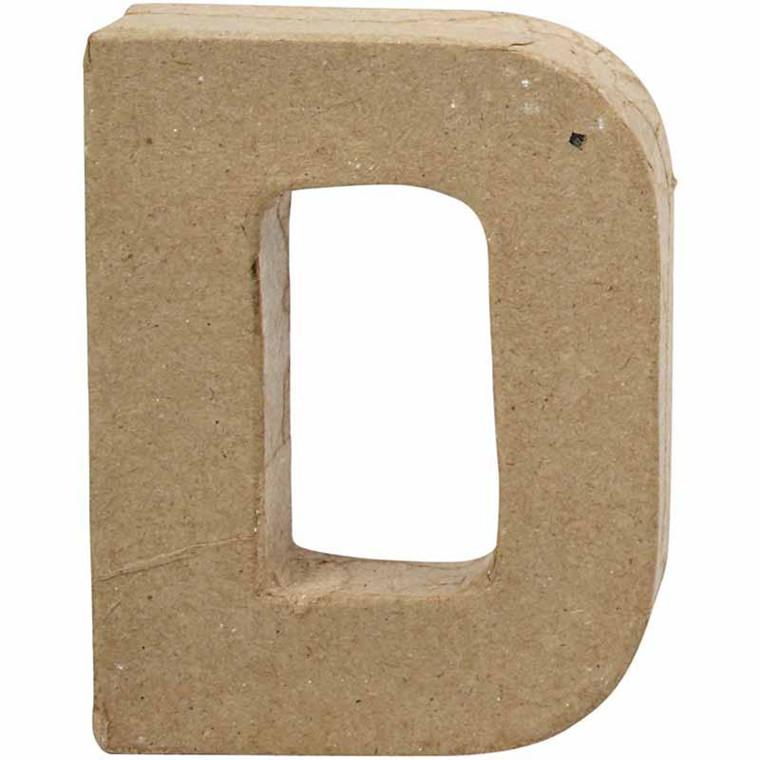Bogstav papmaché højde 10 cm tykkelse 1,7 cm D | bredde 7,7 cm