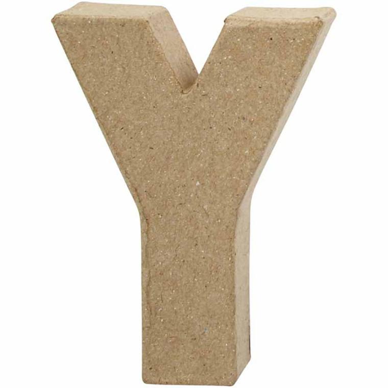 Bogstav papmaché højde 10 cm tykkelse 1,7 cm Y | Bredde 7,9 cm