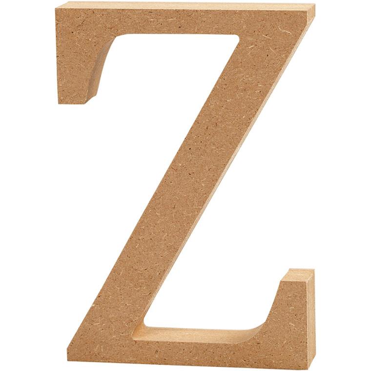 Bogstav højde 8 cm tykkelse 1,5 cm MDF   Z