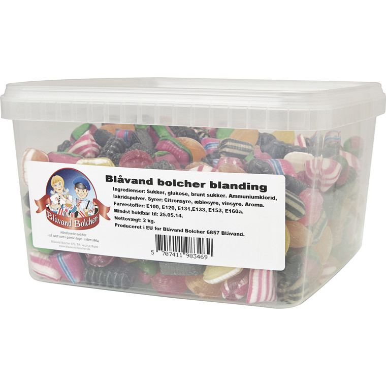 Bolcher blanding - Blåvand bolcher - 2 kg i en pakke