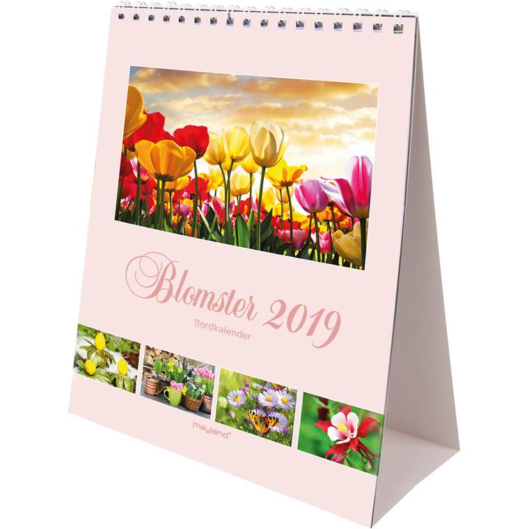 Mayland Bordkalender 2019 A5 Blomster 15 x 21 cm - 19 1310 10