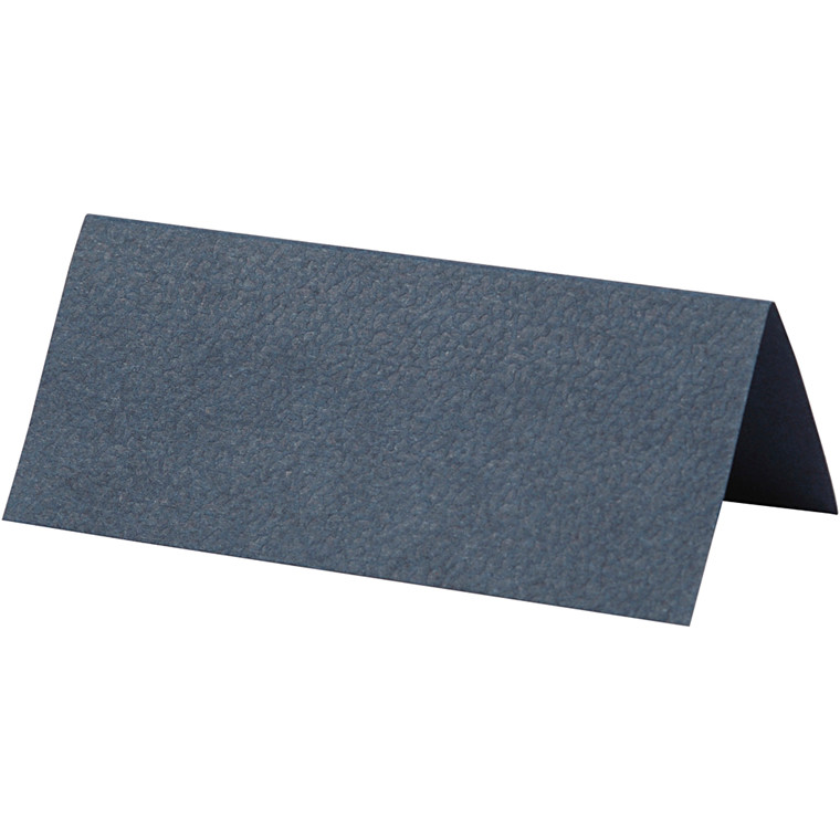 Bordkort, blå, str. 9x4 cm, 220 g, 10stk.