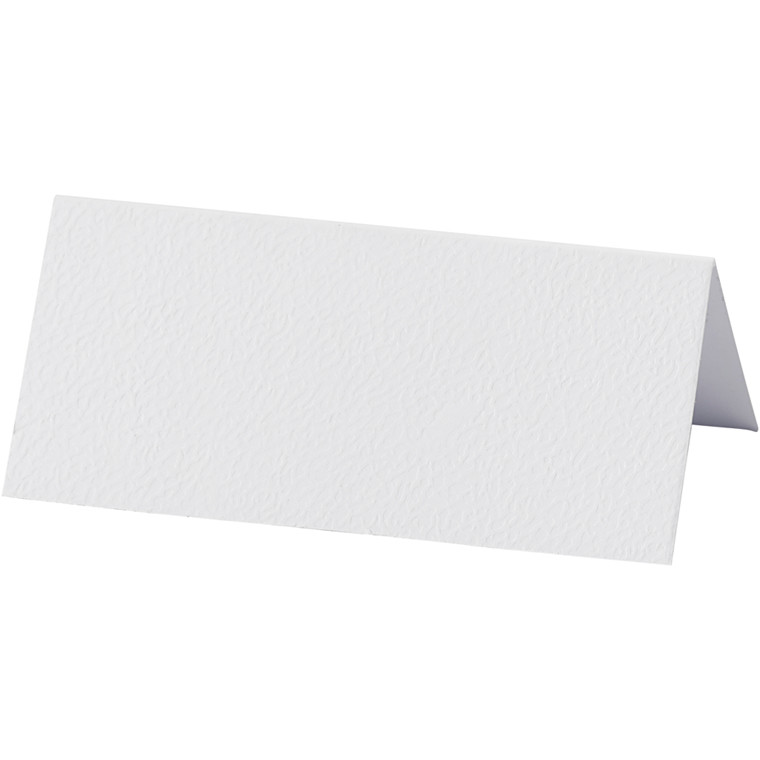 Bordkort, hvid, str. 9x4 cm, 220 g, 10stk.