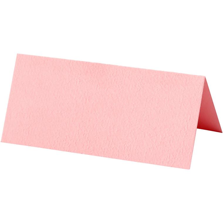 Bordkort, rosa, str. 9x4 cm, 220 g, 10stk.