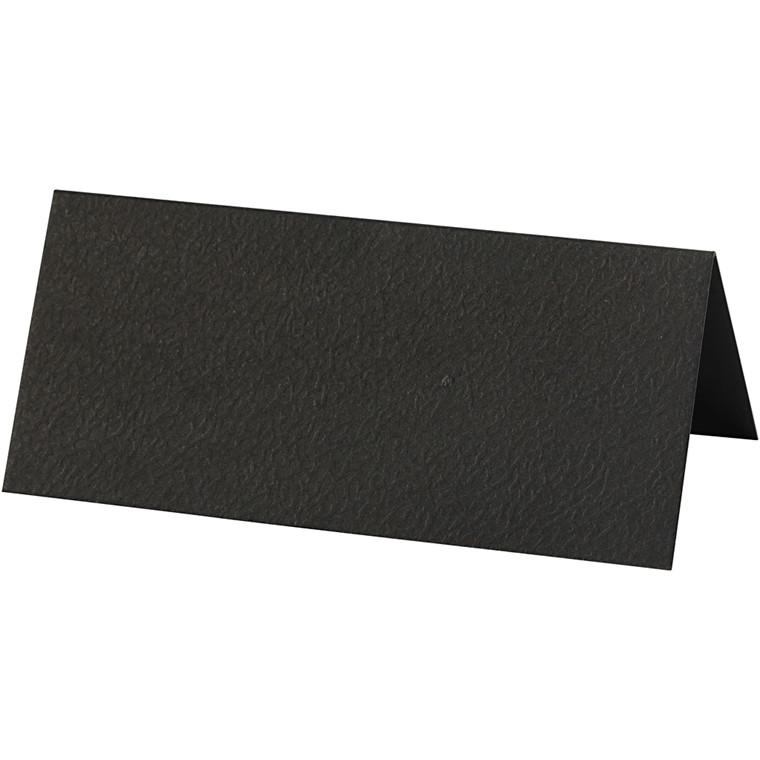 Bordkort, sort, str. 9x4 cm, 220 g, 10stk.