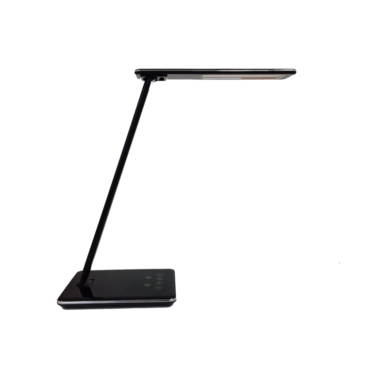 Bordlampe Unilux Linka LED foldbar sort USB+IQ oplader