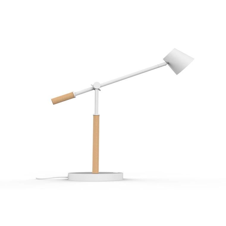 Bordlampe Unilux Vicky hvid/træ
