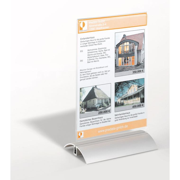 Bordskilteholder - A5 de luxe 8588 alu + akryl