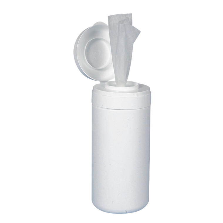 Box, hvid, med låg til vådservietter