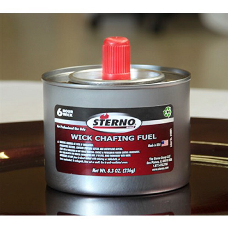 Brand pasta chafing fuel gel - Sterno 6 timers