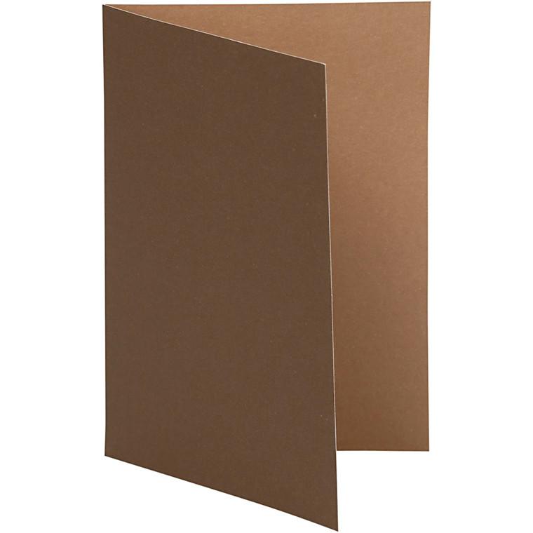 Brevkort, str. 10,5x15 cm, 250 g, brun/sand, 10stk.