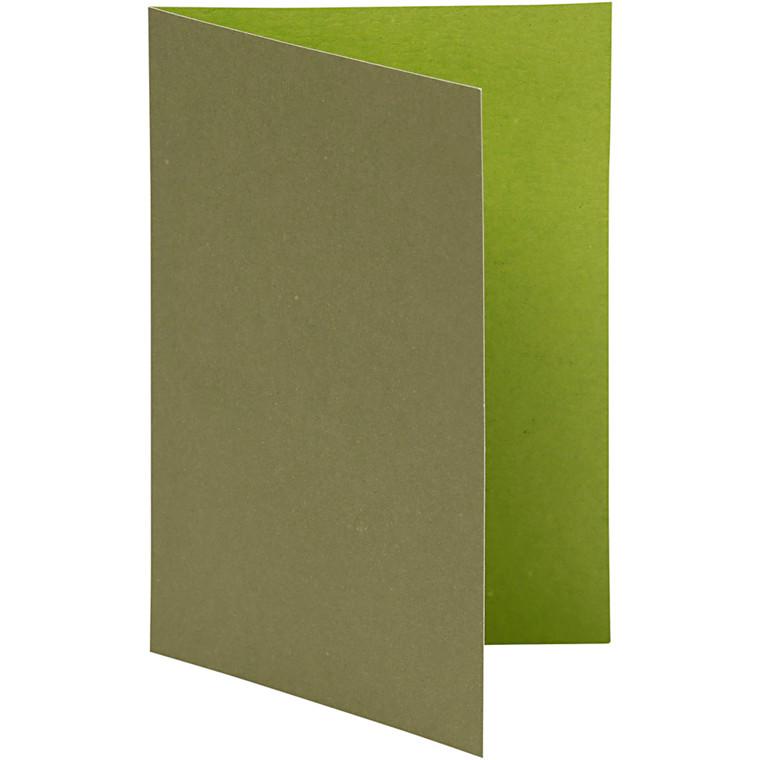 Brevkort lime/mørk grøn størrelse 10,5 x 15 cm 250 gram - 10 stk.