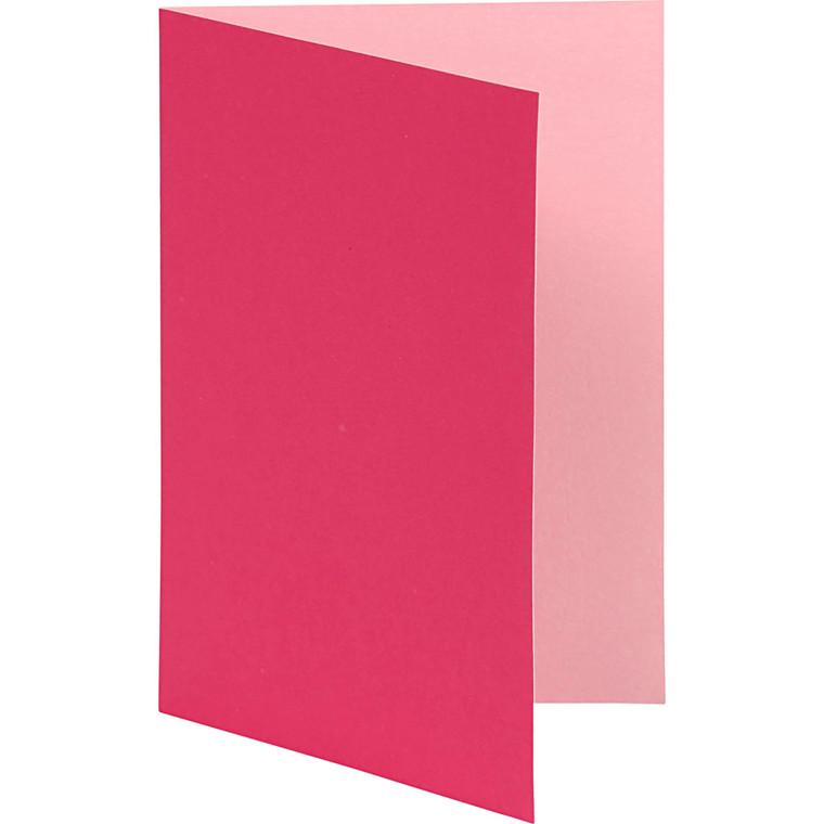 Brevkort, str. 10,5x15 cm, 250 g, pink, 10stk.