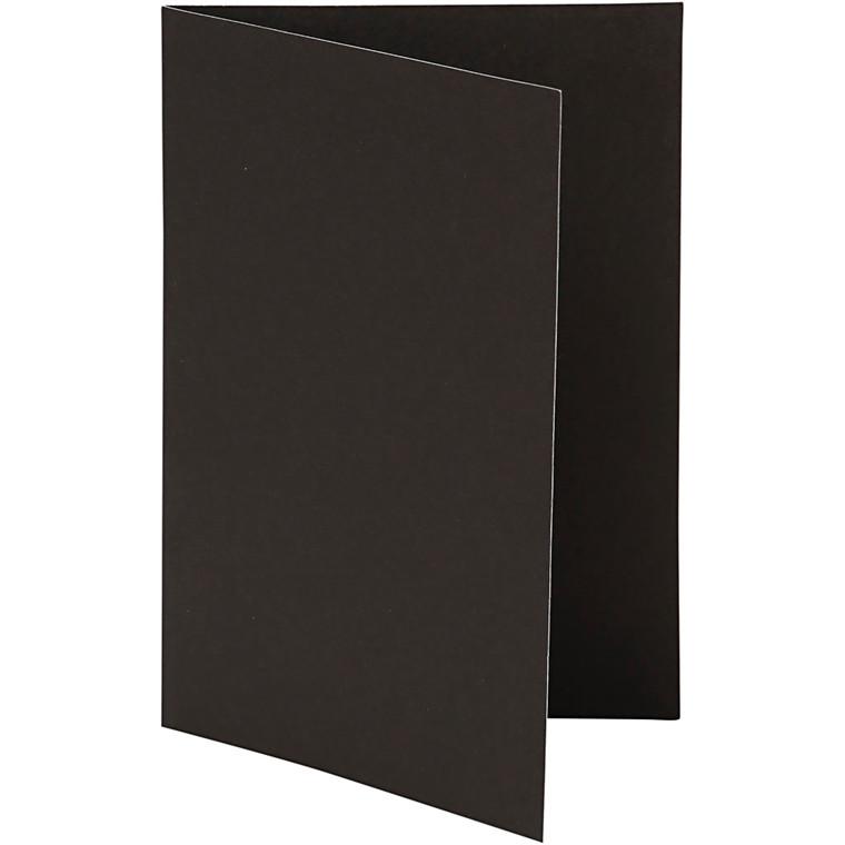 Brevkort størrelse 10,5 x 15 cm 250 gram sort - 10 stk.