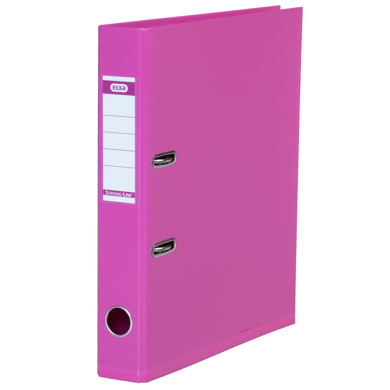 ELBA A4 brevordner pink 1415-19 Strongline - 50 mm ryg