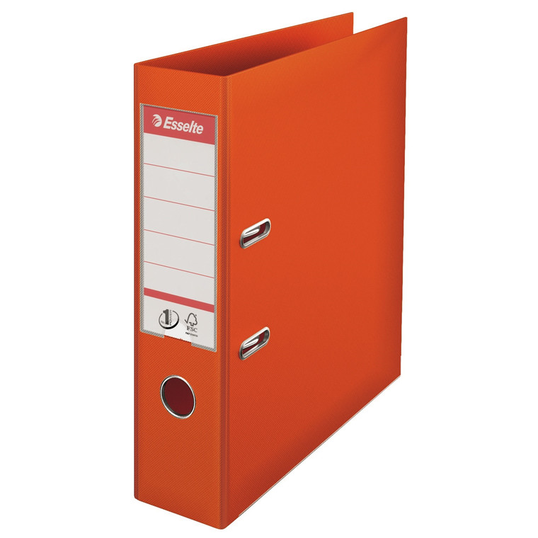 Esselte No 1 brevordner A4 med 75 mm ryg 811340 - Orange