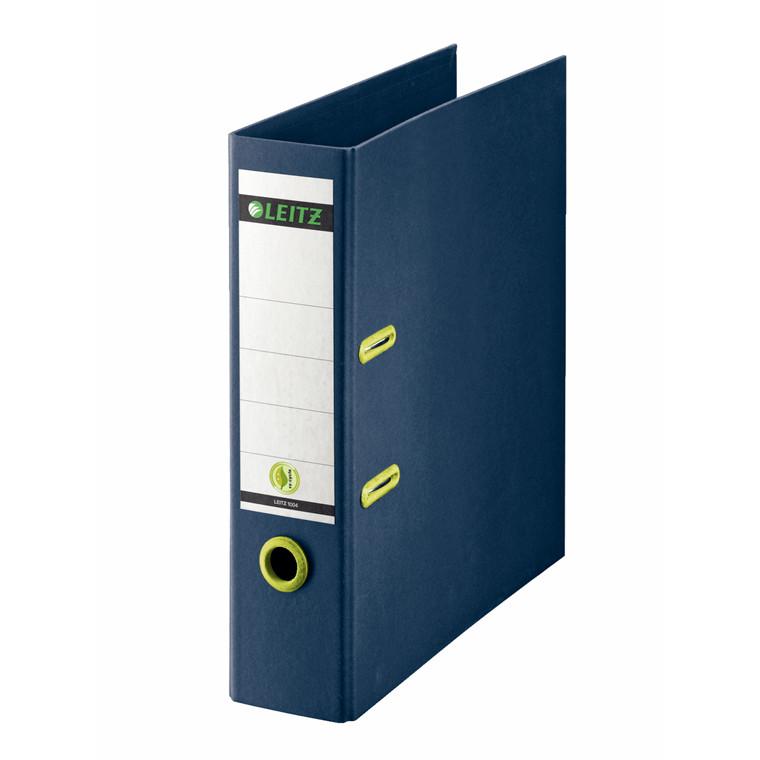 Brevordner Leitz recycle 80mm pap blå 180gr mekanisme