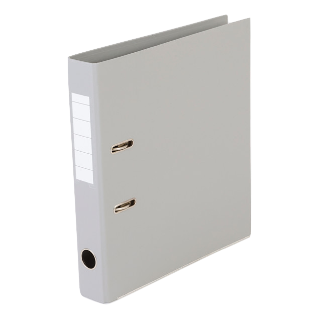 Brevordner - Q-Line A4 grå 50 mm bred ryg