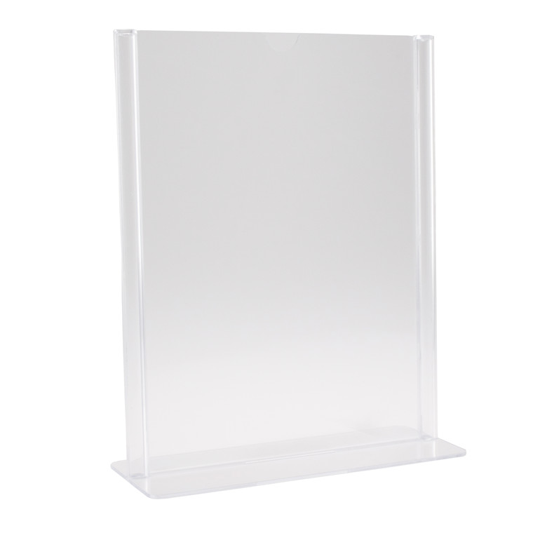 Brochuredisplay BNT A5 klar T-form t/bord 210x148mm