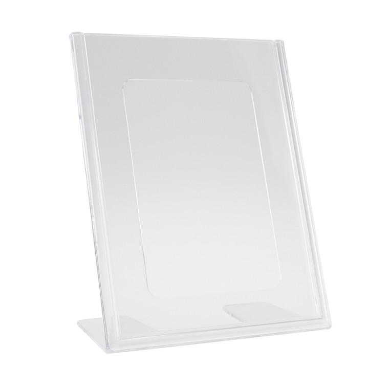 Brochuredisplay BNT A6 klar L-form t/bord 105x148mm