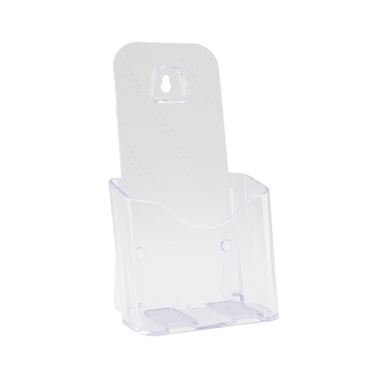 Brochureholder til bord 1/3 A4 - Klar plast med 1 rum BNT