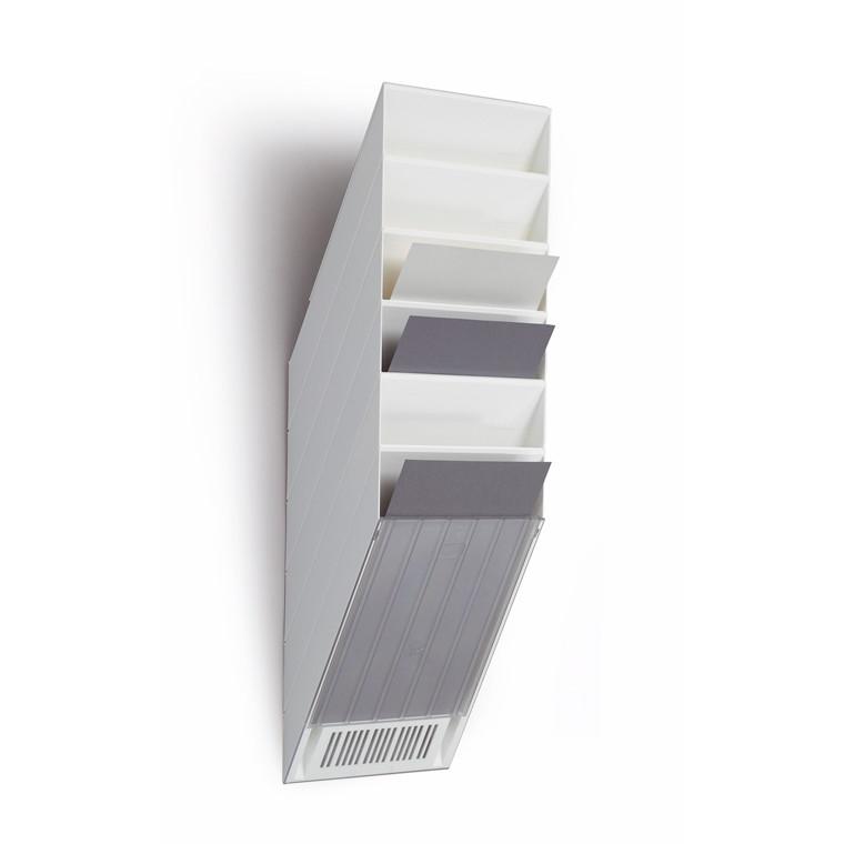 Flexiboxx A4 Brochureholder med 6 rum - Stående til væg