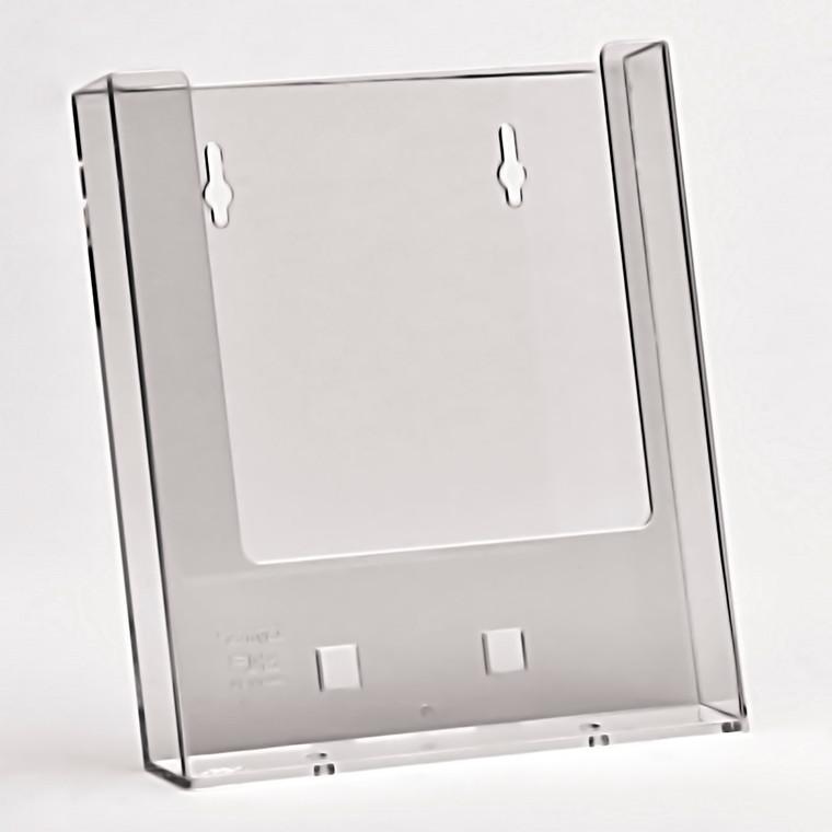 Taymar Brochureholder A5 til væg - Klar plast 1 rum stående
