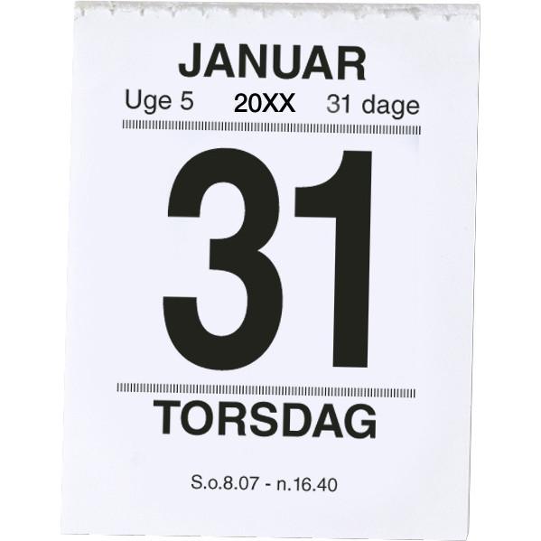 Broderikalender med split og bagsidetekst 2018 5 x 6 cm - 18 2410 00