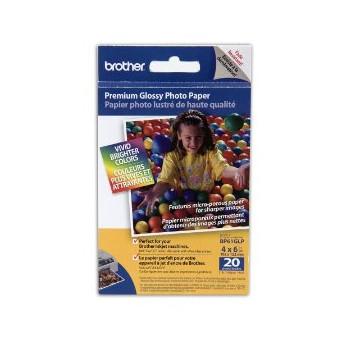 Brother - 10 x 15 cm Premium Glossy foto papir - 20 ark