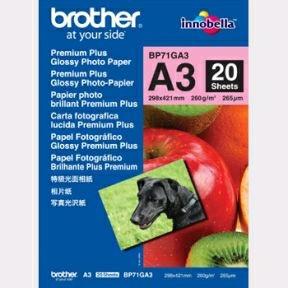 Brother - A3 Glossy inkjet papir 260 gram - 20 ark