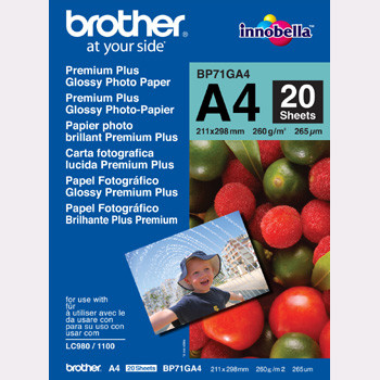 Brother - A4 Glossy inkjet papir 260 gram - 20 ark