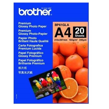 Brother - A4 Premium Glossy Foto papir - 20 ark