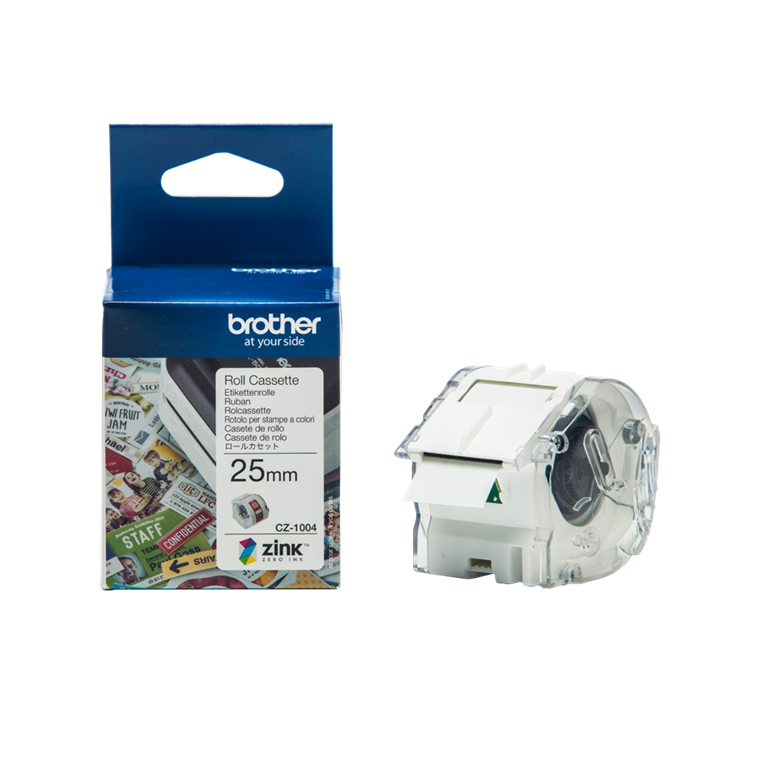 Brother CZ-1004 - Labelrulle til VC500W - 25 mm x 5 meter