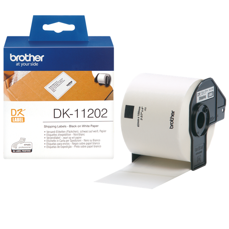Brother DK11202 - shipping labels hvid  62 x 100 mm shipping - 300 stk