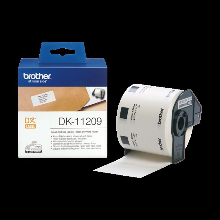 Brother DK11209  - Adresselabels hvid  29 x 62 mm - 800 stk