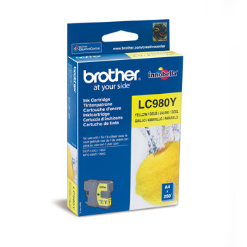 Brother LC980Y ink cartridge yellow 260 pages
