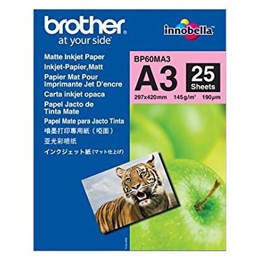 Foto papir Brother - Mat A3 inkjet papir - 25 ark