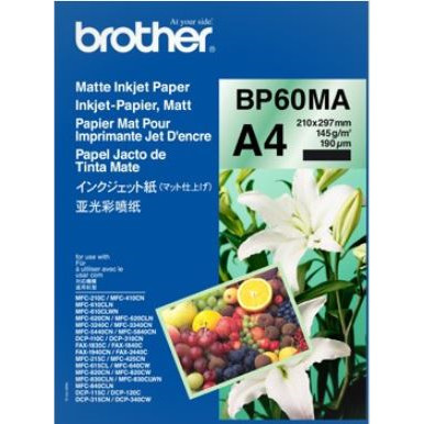Brother - Mat ink-jet papir A4 - 25 ark