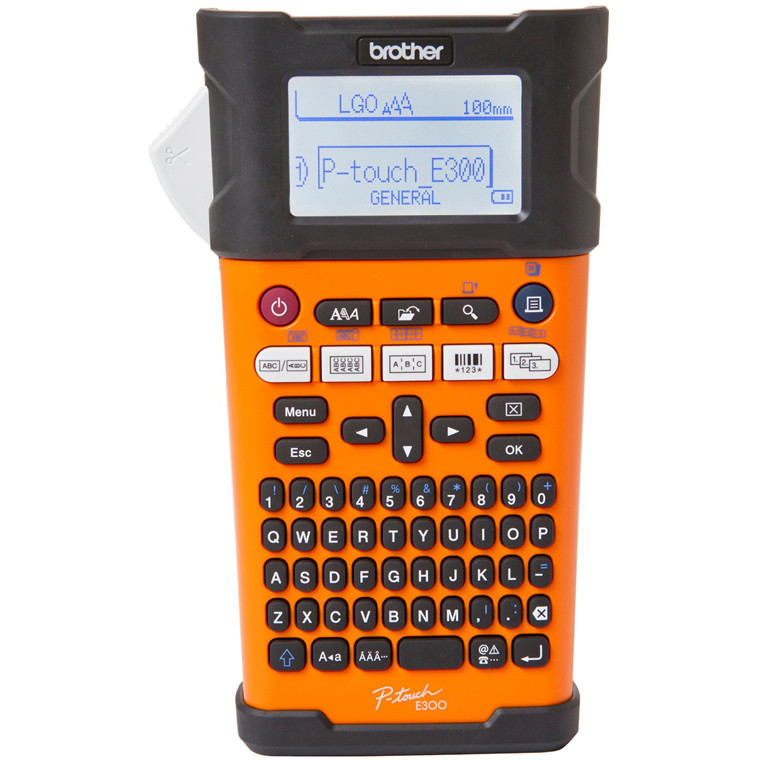 Brother  P-Touch PT-E300VP - Labelmaskine med kuffert - til 6-12 mm TZe-tape