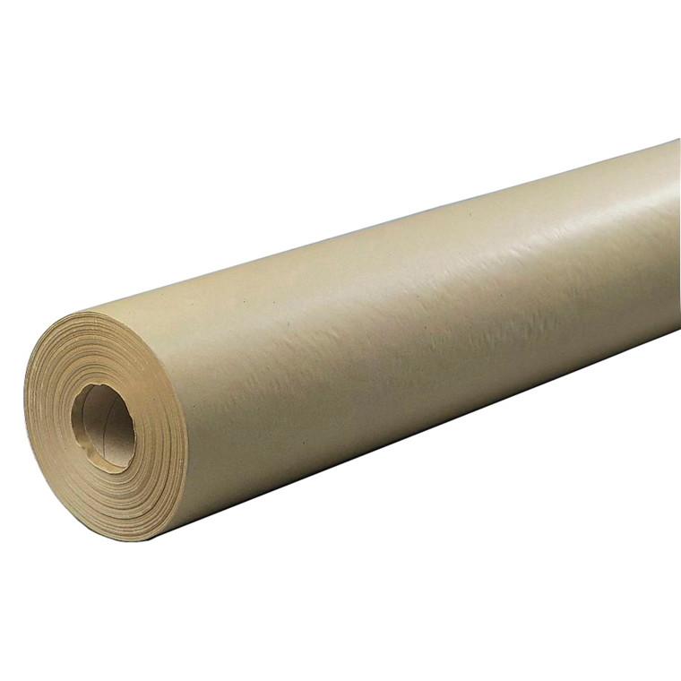 Brunpapir -  55 cm x 250 m x 50 g med paprør 7,5 kg
