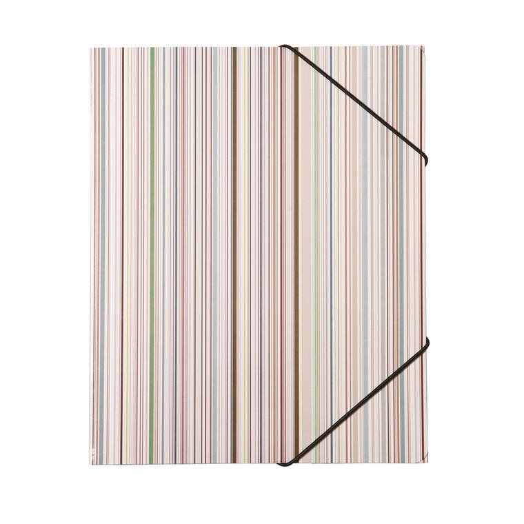 Büngers 3-klap elastikmappe A4, karton, Ocean