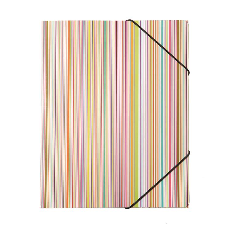 Büngers 3-klap elastikmappe A4, karton, regnbue