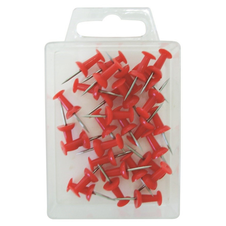 Büngers Kartnål Push pin rød (30)