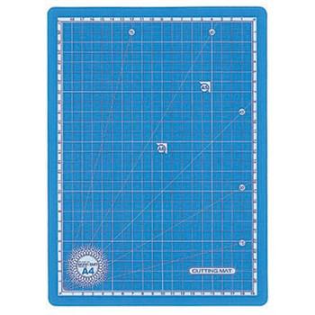 Skæreunderlag A4 - Transparent blå