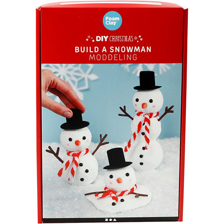 Byg en snemand , modellering, 1sæt